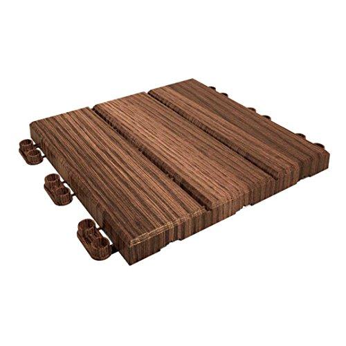 Catral 40010001 Pack 9 tegels klickfloor hout, 30 x 30 x 2 cm