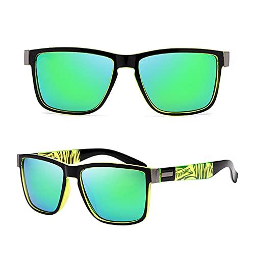 Moda embalaje marco cuadrado retro decorativo polarizado gafas de sol para mujeres y hombres patrón multifuncional marco adulto gafas de sol