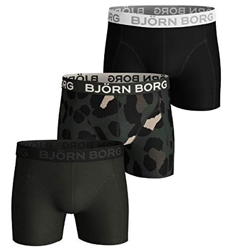 Björn Borg Herren Boxershorts Sammy Gigant Leo Core 3er Pack