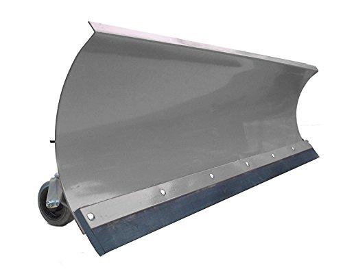 Schneepflug Räumschild Universal Schneeschild für Einachser, Rasentraktor oder Quad / ATV Grau / 100 x 40 cm / 5 Stufen verstellbar