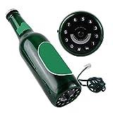 Diyeeni Teléfono Fijo con Cable como Regalo Ideal,Teléfono de Línea Fija de Estilo de Botella de Cerveza,Función de Almacenamiento del Número de Teléfono(Cian)