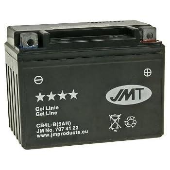 Gel Battery YB4L-B 5A JM For Peugeot Fox 25 LA 1995-1997