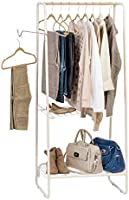IRIS USA PI-B5-M Metal garment and accessories rack, Medium, White
