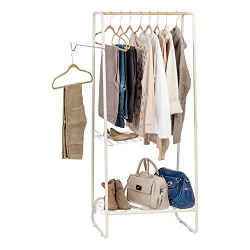 IRIS USA, Inc. PI-B5-M Metal Garment and Accessories Rack, Medium, White