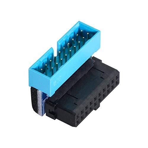 Cablecc USB 3.0 20pin macho a hembra adaptador de extensión en ángulo...