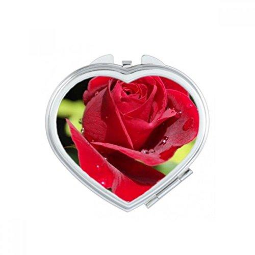 DIYthinker Bleu Roses foncé Fleurs de Coeur de Maquillage Compact Miroir de Poche Miroirs Mignon Petit Cadeau Portable à la Main Multicolor