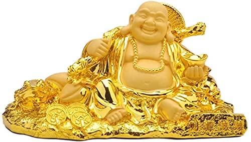 RR&LL Statuette dorée Maitreya assis pièce de monnaie dor Fe