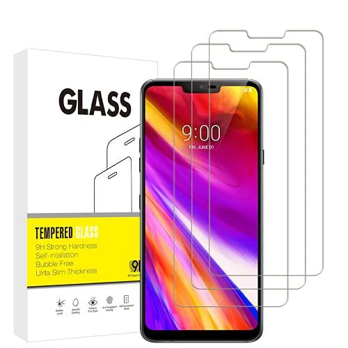 per LG G7 ThinQ Protezione Schermo,VuciyaVetro TemperatoProtezione Schermo,Senza Bolle,Anti-graffio,Anti-Impronta,3 Pezzi,per LG G7 ThinQ.