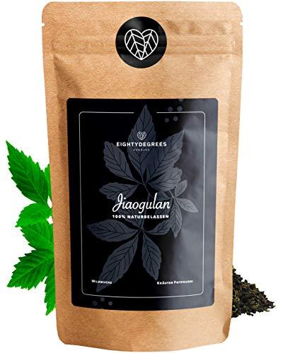 Jiao&Gulan Blätter - getrocknet - nachhaltiger Wildwuchs - 5-Blatt Ginseng - Frische Ernte - Premium Qualität - per Hand geprüft und abgefüllt in Deutschland | 80DEGREES (100g)