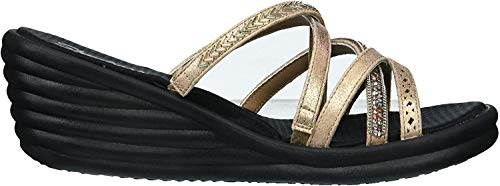 Skechers Damen Rumbler Wave - New Lassie Sandalen, Pink (Rose Gold), 40 EU