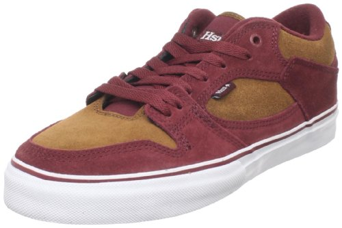 Emerica Men's Hsu Low Skate Shoe,Red/Brown,6.5 D US