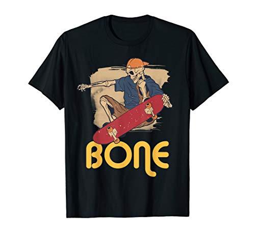 Funny Skateboard Skeleton Bone Skateboard Lover Halloween T-Shirt