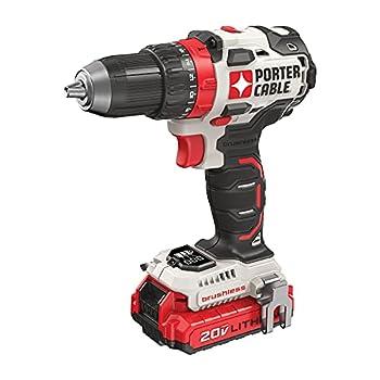 PORTER-CABLE 20V MAX Cordless Drill / Driver Kit 1/2-Inch  PCCK607LB