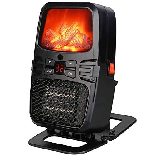 GCSEY Elektrische radiator, 1000 W, mini-ventilator, kachel met fornuis, afstandsbediening, PTC, wandverwarming, kantoor, draagbaar, warmhoudapparaat