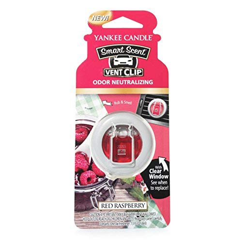 Yankee Candle 1333960E Deodoranti per Auto, Smart Scent Vent Clip, Red Raspberry
