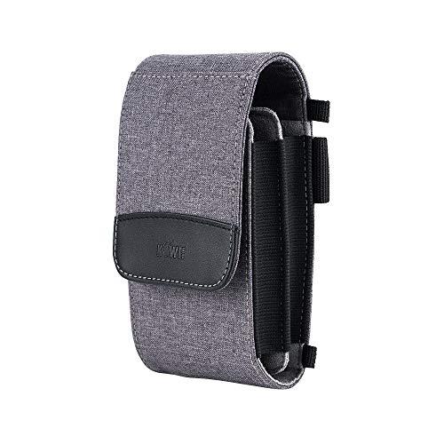 KIWI FOTOS Doppelschichtige Handy-Reisetasche, Umhängetasche, Holster mit Schultergurt, multifunktional, für Smartphone, Powerbank, Karte