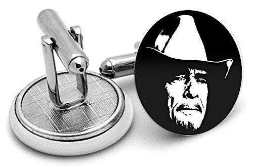 Merle Haggard boutons de manchette – Livré dans pochette cadeau