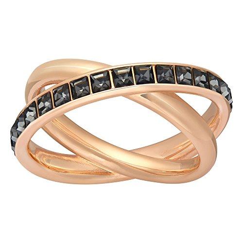 Swarovski Damen-Ring Dynamic rhodiniert Kristall schwarz Gr. 60 (19.1)-5184225