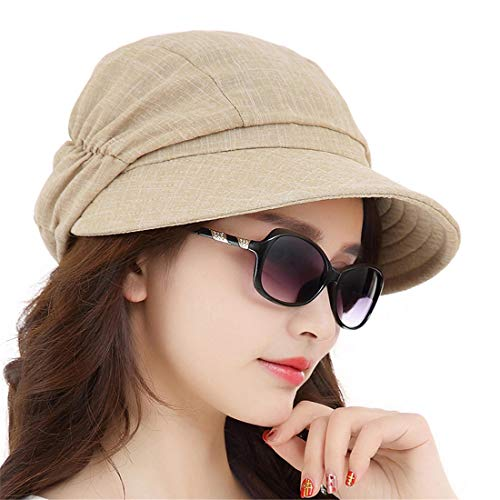 Zonnehoed voor dames, zonwering, elegante zonwering, lampenkap Fashion, L, grijs