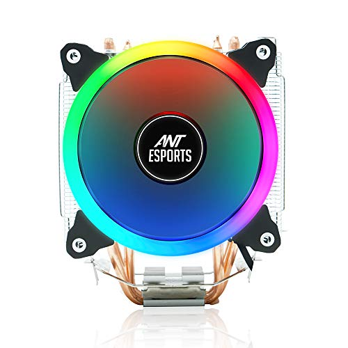 Ant Esports ICE-C612 with RGB LED PWM CPU Cooler/Fan Support Intel LGA775, LGA1150, LGA1151, LGA1155, LGA1156, LGA2066, LGA2011-v3, LGA2011, LGA1366 and AMD FM1, FM2, FM2+, AM2, AM2+, AM3, AM3+,AM4