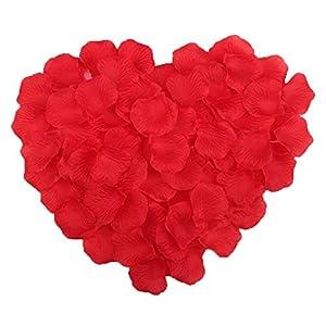 Gespout – 1000 pétalos de rosa artificiales, flores decorativas para boda y fiestas