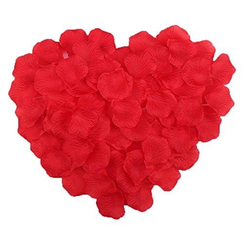 Gespout - 1000 pétalos de rosa artificiales, flores decorativas para