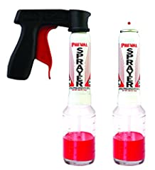 Includes, 2 Preval Sprayers, 1 vGrip, 2 Dip Tubes and 2 replacement buttons. The Preval vGrip is a gun handle with an ergonomic trigger that snaps onto the Preval Sprayer with ease. Made in the USA Model number: 0227