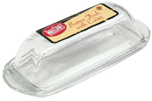 Tablecraft Clear Glass Butter Dish