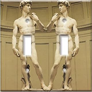 Art Plates - Michelangelo's David Switch Plate - Double Toggle