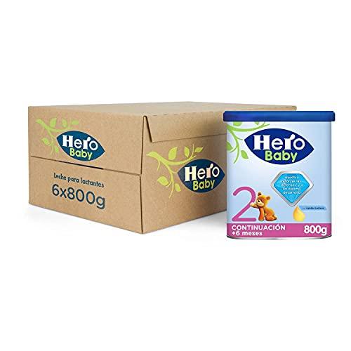 Hero Baby Leche 2 - Para niños de hasta 12 meses, Paquete de 6 x 800 g