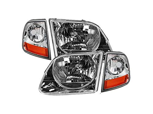 Headlight and Cornering Light Kit 4 Piece Set - Compatible with 1997-2003 Ford F150 (From 07/1996)