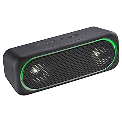 Daewoo Rechargeable Wireless Bluetooth Speaker with 5W Power Audio Output, 1200 mAh Li-Ion Battery with Long Battery Life, Bluetooth/USB/TF Card Connectivity with LED Light Display- (Black) by DAEWOO ELECTRONICS