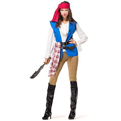 Disfraz Halloween, Carnaval Disfraz Cosplay para Disfraz Halloween Cosplay,Disfraz De Pirata Femenino Fiesta De Halloween Fiesta De Disfraces De Pirata