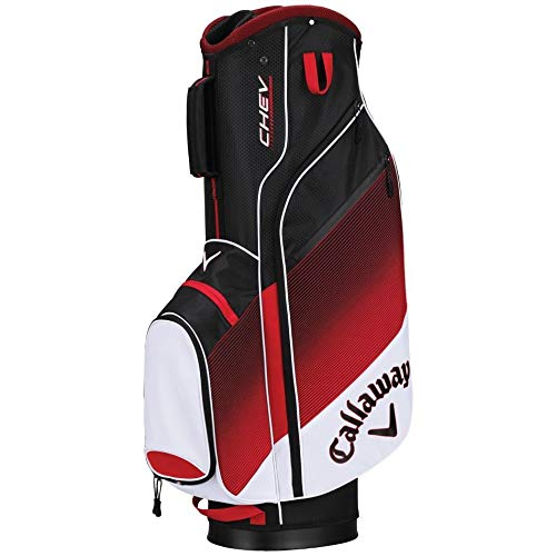 Callaway Golf 2018 Chev Cart Bag, White/ Red/ Black