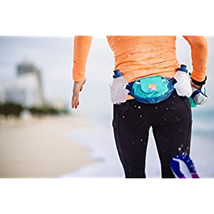 Nathan Hydration Running Belt Trail Mix - Adjustable Running Belt - Includes 2 Bottles - Fits iPhone 6/7/8 Plus and Other 6.5 Inch Smartphones - Very Berry/Vivacious