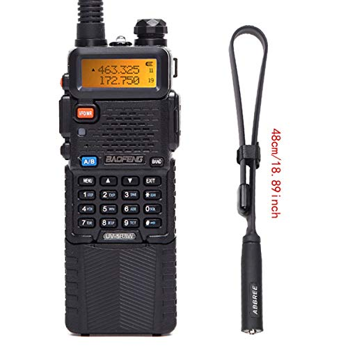 BaoFeng UV-5R 8W High Power Tri-Power 1W/4W/8W Portable Dual Band Two-Way Radio 3800mAh Battery with 18.8inch ABBREE Tactical Antenna