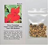 David's Garden Seeds Flower Nasturtium Empress of India (Edible) SAL1824 (Red) 50 Non-GMO, Heirloom Seeds