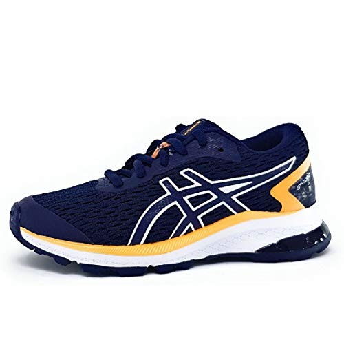 Asics Gt-1000 9 GS, Running Shoe Unisex-Child, Peacoat/Blanco, 36 EU