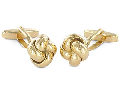 Grom Manschettenknöpfe Knoten-Form aus 585er Gold
