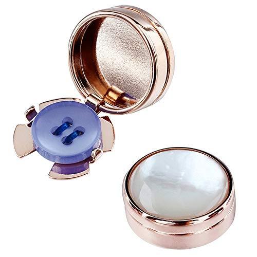 XKSWZD Cubierta de botón de Color Oro Rosa Botón de Cubierta de Perla Madre para Accesorio de Ropa para Hombre Color de Oro Rosa