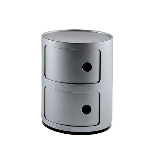 Kartell 4966SI container Componibili zilver