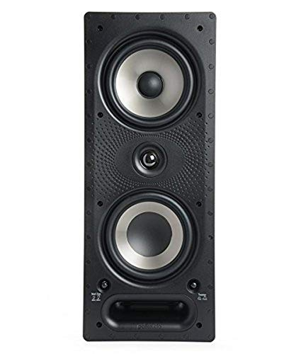 Polk Audio 265-RT 3-way In-Wall Speaker - The Vanishing Series | Easily Fits in Ceiling/Wall | High-Performance Audio - Use in Front, Rear or as Surrounds | With Power Port & Paintable Grille Black/White