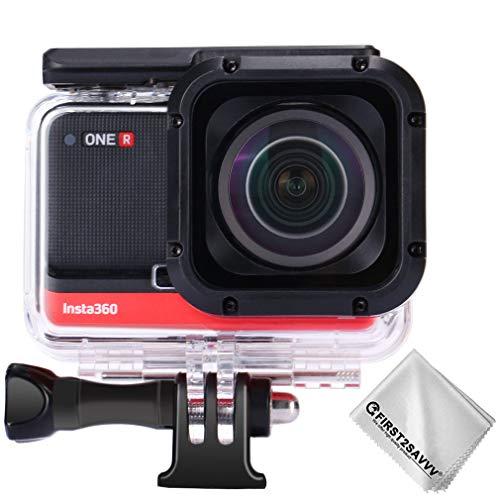 First2savv Funda Resistente al Agua Protectora para Insta360 One R 1-Inch Edition Action Camera Co-Engineered with Leica Action Camera