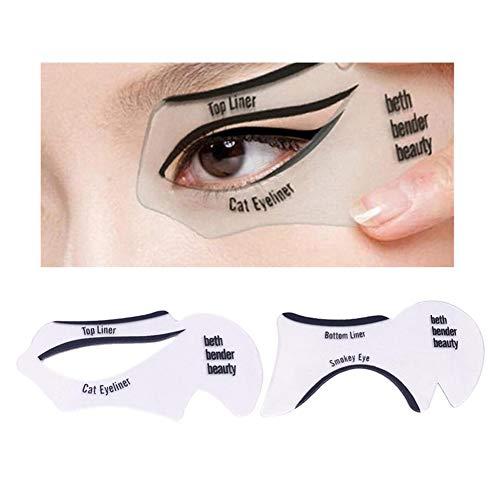 10Pcs Eyeliner Stencil Set Eyeshadow Stencil Cat Eyeliner Stencils Smoky...