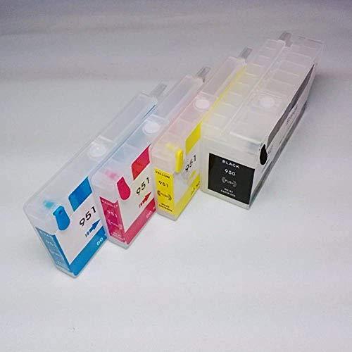 para HP 8100/8600 950/951 con chip de reinicio automático cartuchos de tinta recargables Impresora piezas vacías