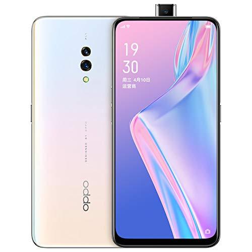 Original Oppo K3 8G+128G Mobile Phone 4G LTE Android 9 Snapdragon 710 Octa Core 6.5' AMOLED VOOC 3.0 Screen Fingerprint Support Google-by (CTM Global Store) (White 8G+128G)