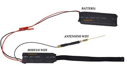 CursOnline Microspia Spy Camera Spia WiFi HD Motion Detection Telecamera Microcamera Micro Nascosta Digital Video Camera CCTV P2P con Antenna Esterna WiFi