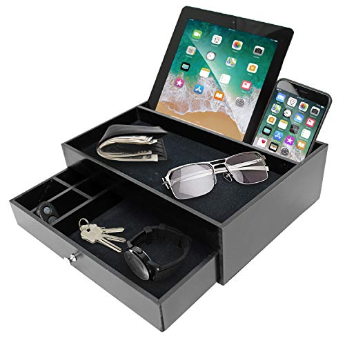 Mens Valet Tray For Men - Nightstand Organizer Catch All Edc Tray...