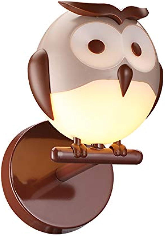 Kreative Kinderzimmer Eule LED Wandleuchte Tischleuchte Kronleuchter, Mdchen Zimmer Runde Nette dekorative Beleuchtung Schlafzimmer warme Augenschutz Lampe (ausgabe   Wall lamp)