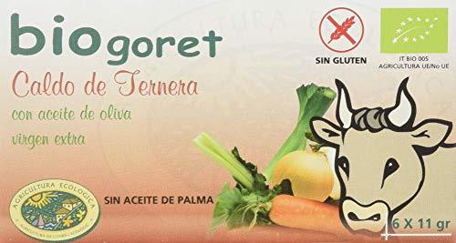 Biuogoret Cubitos de Caldo de Ternera con Verduras Ecológicos 6 Cubitos x 11gr, 66 Gramo